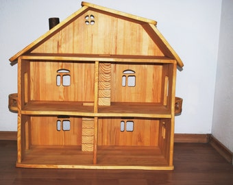 Dollhouse - Wooden DollHouse - Big doll house - dollhouses - wood dollhouse