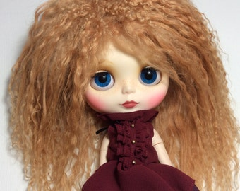 Extra long BJD mohair wig Custom made Blythe doll mohair wig BJD mohair wig SD mohair wig Blythe doll outfit Blythe doll wig