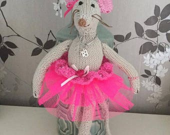 Knitted Ballerina Mouse