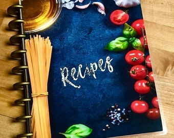 Front & Back Cover Set Food Recipes for use with Happy Planner OR Erin Condren Life Planner