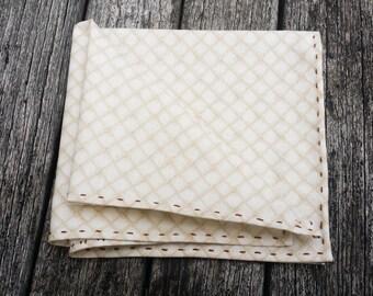 Beige Pocket Square - Cream Pocket Square - Cotton Pocket Chief - Formal Pocket Square - Gift for Him-Casual Pocket Square-Men Pocket Square