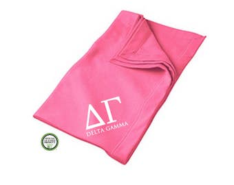 Delta Gamma Blanket, Sorority Throw Blanket, DG