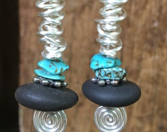 River Stone Turquoise Drops