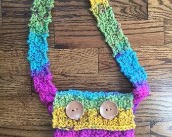 Knitted bag, crossbody bag, Boho chic bag, Summer bag, Knitted purse, Knitted crossbody bag, Woven knitted bag, Shoulder bag