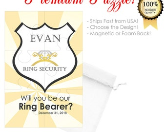 Will You Be Our Ring Bearer Puzzle- Ring Bearer Proposal- Ring Bearer Card- Will You Be Our Ring Bearer Puzzle- Ring Security Wedding Puzzle