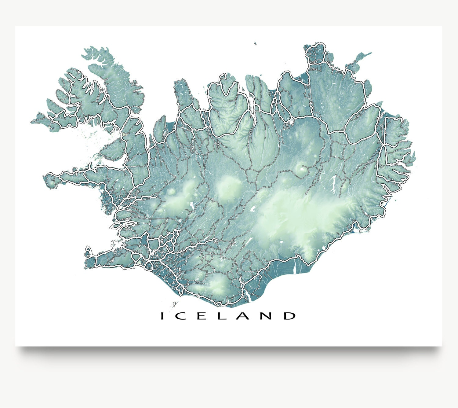 It's just a graphic of Exhilarating Printable Iceland Map