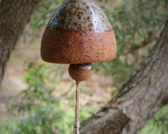 Stoneware ceramic hanging bell