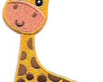 Adorable Giraffe Embroidered Patch / Iron On Applique, Kids, Infants