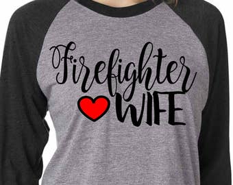 Firefighter wife SVG, DXF, EPS, png Files for Cutting Machines Cameo or Cricut - firefighter svg - fire wife svg - fire svg