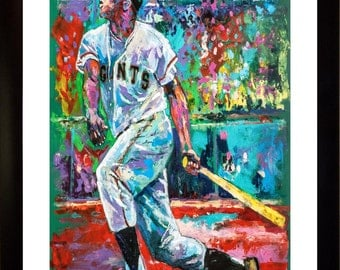 70% SALE - Willie Mays Fine-Art LIMITED Edition Paper Print From an Original Hand-Painted (Not DIGITAL/Computer) Artwork By Winford