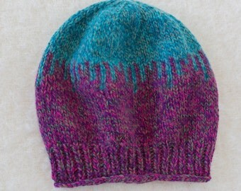 Children's Handknit Wool Beanie Hat