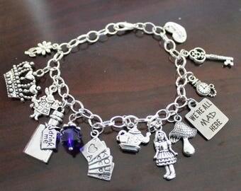 Limited Edition Alice in Wonderland Charm Bracelet