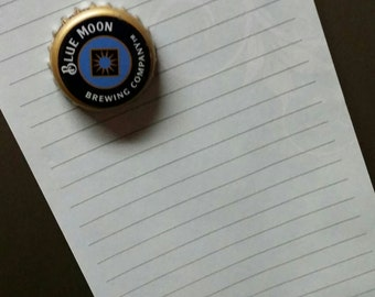 Blue Moon Bottle cap Magnets (set of 4)