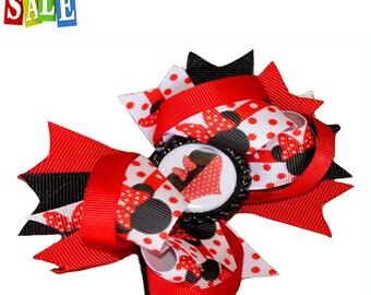 Minnie mouse hair bow, Minie hair bow, girls hairbow, kids hairbow, disney hair bow, girls hair bow,Disney Minnie hair bow