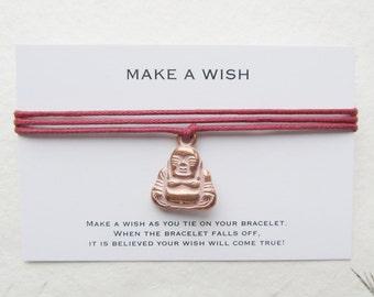 Wish bracelet, make a wish bracelet, buddha bracelet, yoga bracelet, W04