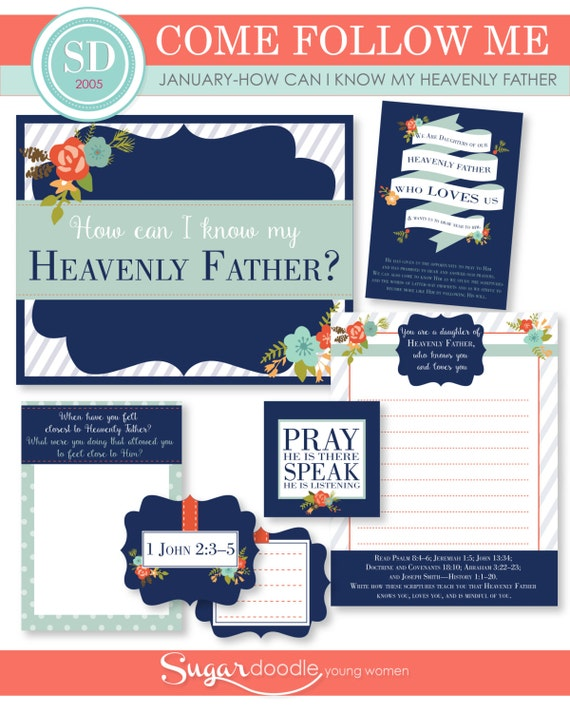 "LDS YW Come Follow Me - January - ""How can I know my Heavenly Father?"" - Printable Lesson Helps - MB"