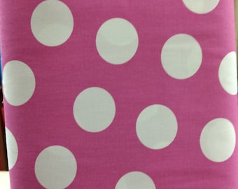 Big Dot fabric. Fuchsia pink polka dots wide quilters cotton quilting C & C 4649