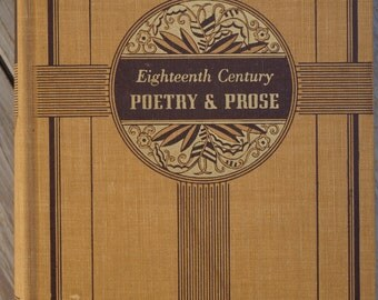 Eighteenth Century Poetry and Prose - 1939
