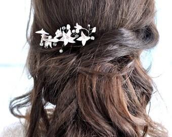 Pearl hair pins bridal hair pins Wedding Hair pin Wedding Headpiece pearl hair vines pearl Ivory Hair Pins Flower hair pin floral hair pins