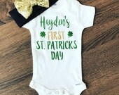 1st St Patricks Day | First St Patricks Day Baby Girl | St Patricks Day Outfit | Girl Clothing | Newborn Outfit Girl Baby Shower Gift