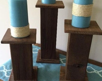 Pallet Wood Candle Holders