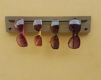 "Sunglass Rack, Sunglass Organizer, Sunglass Sling - Wilsonart Studio Teak Laminate 15-3/4"""