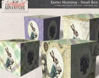 Easter printable DIY box, digital download, printable digital collage sheet, spring, Easter bunny, egg hunt, party printables party decor