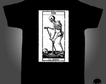 Unisex T-Shirt with illustration of tarot LA MORTE