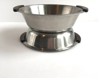 danish modern stainless steel bowls vintage stainless steel and rosewood bowls made in denmark