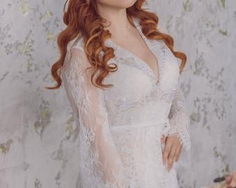 Lacy peignoir wedding luxury lingerie