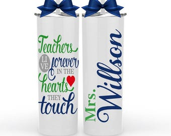 Teacher Gifts, Gifts  for Teachers, Teacher  Personalized Gifts,  Teacher Appreciation Gifts, Thank You Teacher Cup, End of Year Gift Idea