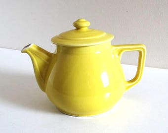Vintage 1950s Lemon Yellow Teapot