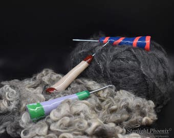 Crochet Hook, Ergonomic Crochet Hook, Clay Crochet Hook, Crochet Hook Size F, Kid Friendly, Arthritis Friendly, Polymer Clay Crochet Hook