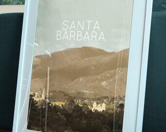 Santa Barbara Poster 11x17 18x24 24x36