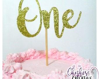 One Cake Topper, 1st Birthday, Glitter Cake Topper, First Birthday, Cake Topper, Turning One, Party, Celebration, Swirls, Topper, Baby