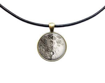 Astronomy necklace Galileo Moon pendant Space jewelry