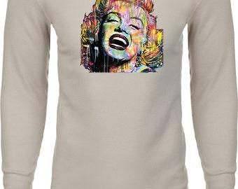 Men's Neon Marilyn Monroe Thermal Shirt 20128HL2-N8201
