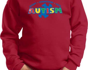 Kid's Autism Accept Understand Love Sweat Shirt XIT-13562-PC90Y