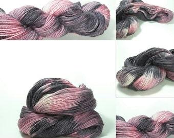 Alpaca and Silk yarn -Cranberry Cosmo colorway