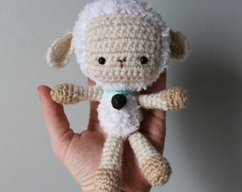 Crochet Stuffed Lamb Toy//Amigurumi Lamb