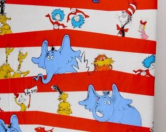 Dr Seuss Baby Quilt Abc Unisex Crib Bedding Nursery Decor
