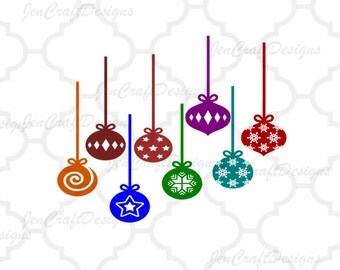 Christmas Ornament SVG EPS Png DXF, Christmas Bulbs, Cricut Design Space, Silhouette Studio, Digital Cut Files