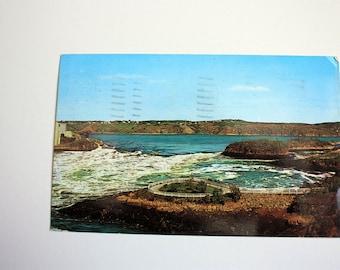 Reversing Falls Rapids, Saint John Postcard 1971 /  New Brunswick Souvenir /used with stamp / vintage Rapids postcard