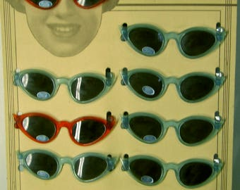 antique sunglass display intact