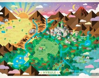 Illustrated Hyrule Map (The Legend of Zelda)