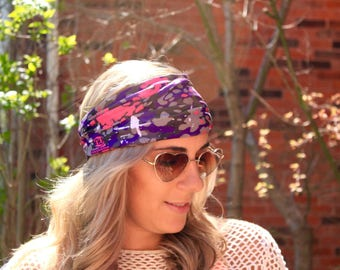 BUY 2 get 1 FREE!! Purple Mud Yoga Headwrap, Fitness Workout Headband, Running Headband, Top Selling Item, Boho Headband, Yoga Headband