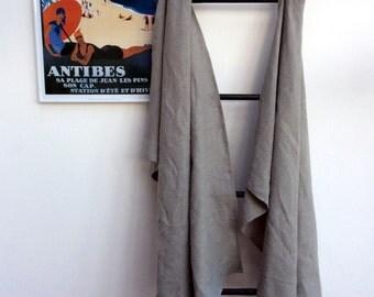 100% Linen Charcoal Grey Bath Towel - Bath Sheet