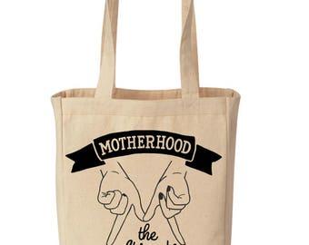 MOTHERHOOD The Original GIRL GANG / Girl Gang Shopping Canvas Tote / girl gang Shopping Grocery Tote / motherhood Canvas Tote