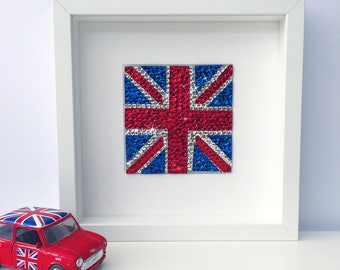 Union Jack picture, Union Jack wall art, British decor, London art, Union Jack flag, England, u.k