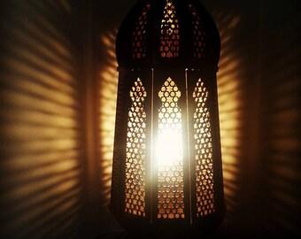 "Wooden Oriental Lamp ""Samar"""